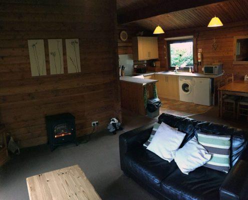 lounge for Scottish holiday lodge